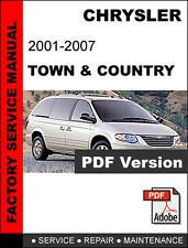 CHRYSLER TOWN & COUNTRY 2001 2002 2003 2004 2005 2006 2007 SERVICE REPAIR MANUAL