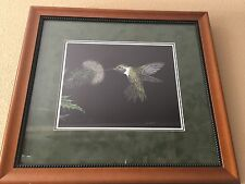 "Scratchboard Artwork Deborah Liszt ""Sweet Nectar"" Hummingbird Limited Edition"