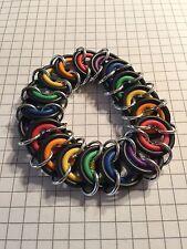 Handmade Rubber O And Jump Ring Pride Bracelet