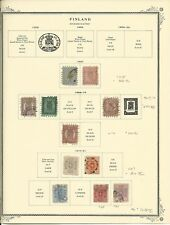 Finland Collection 1856-1881 on Scott Specialty Pages, SCV $1218