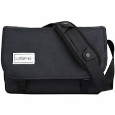 Luxspire Messenger Bag, Large Capacity Men Classic Vintage Crossbody Waterproof