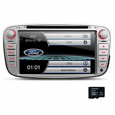 7 Zoll Autoradio GPS Navi DVD Screen Mirror USB SD für Ford Mondeo Focus S-max