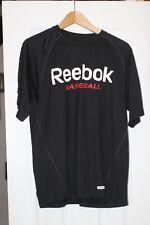 Reebook Baseball Black Short Sleeve Shirt Men'S -Small Very Breathable Material