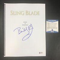 BILLY BOB THORNTON SIGNED AUTOGRAPHED SLING BLADE FULL MOVIE SCRIPT BECKETT BAS