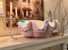 PINK Giant Clam Shell Bathroom Cloakroom Sink Wash Basin Bowl Counter Top Gift