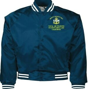 NAVAL AIR WEAPONS STATION CHINA LAKE NAVY EMBROIDERED 2-SIDED SATIN JACKET