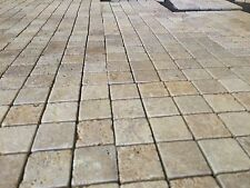Travertin mosaïque, or travertin Mosaic, 100x100mm échantillon, marbre, calcaire,