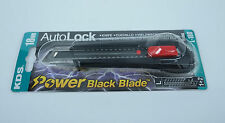KDS 18mm Auto Lock Knife Cutter Power Black Blade with 2 Spare Blades Japan Made