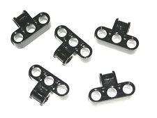 LEGO 5 Black Technic Mindstorms Axle Pin Connectors Perpendicular Triple 42039