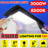 2000W 200000LM LED Solar Street Light PIR Motion Sensor Outdoor Wall Lamp+Remote