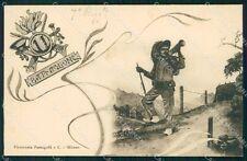 Militari 11º Battaglione Bersaglieri cartolina XF1063