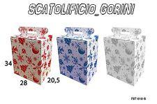 15 PZ  SCATOLA ROSSO GRIGIO REGALO 28-20,5-34 PER BOTTIGLIA E PANETTONE NATALE