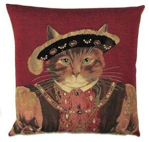 Susan Herbert Pillow Cover - King Henry VIII decor - belgian tapestry cushion