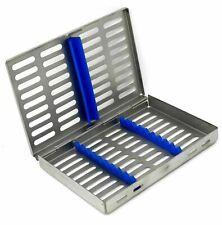 German Dental Autoclave Sterilization Cassette Rack Box Tray For 10 Instruments