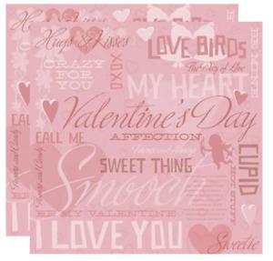 Karen Foster Design 12x12 Scrapbook Paper Valentine's Day Love Collage