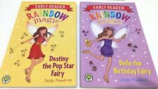 2 BOOKS Rainbow Magic Early Reader Belle The Birthday Fairy & Destiny pop star