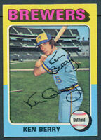 Ken Berry #432 signed autograph auto 1975 Topps Baseball Trading Card