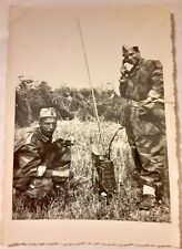 Vintage 1940's Wwii World War Two Photo Italian ? Army in Field Radio Operators