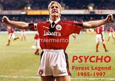 NOTTINGHAM FOREST FC LEGEND STUART PEARCE PSYCHO EXCLUSIVE A4 PRINT