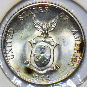 Philippines 1944 20 Centavos Eagle animal UNC 294923 combine