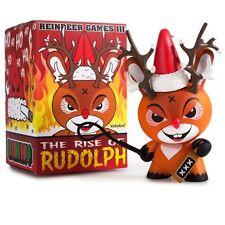 "Kidrobot Rise of Rudolph 3"" Holiday Dunny Vinyl Figure Xmas Kozik In Stock"