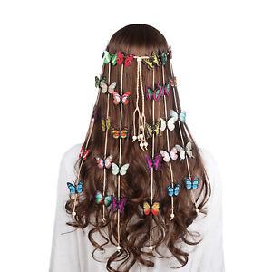 Boho Adjustable Women's Butterfly Headband Hairband Hair Rope Tassel Accessories