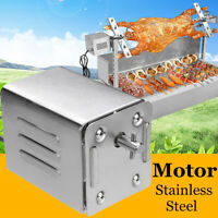 Stainless Steel BBQ Grill Motor 70Kgs Pig Barbecue Spit Rotisserie Universal Kit