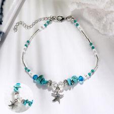 Boho Bracelet Gift Turquoise Starfish Beads Starfish Anklet Beach Sandal Ankle