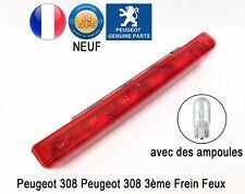 Peugeot 308 3ème Feu Stop Frein Feux de Freins avec des ampoules 6350CR NEUF