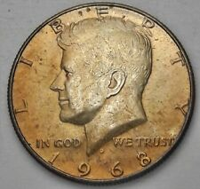 COLORFUL 1968 D USA SILVER KENNEDY HALF DOLLAR SET TONED HIGH GRADE (DR)