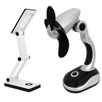 Set LED SMD Tischlampe & Schreibtisch Handventilator | Tischleuchte | Ventilator
