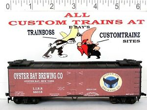 HO CUSTOM LETTERED OYSTER BAY BREWING BEER FREIGHT CAR COLLECTIBLE REEFER LOT E