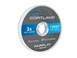 Cortland Fairplay Nylon Tippet Clear 27yd Fly fishing Monofilament Line NEW 2021