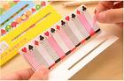 Fashion 10Styles Lovely Heart Slim Sticker Paste Bookmark Mark Memo Sticky Notes