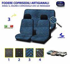 Coprisedili per Fiat Panda 750 4x4 set fodere copri sedile auto artigianali blu