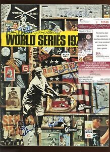 1976 World Series Program With New York Yankee Insert Autographed 9 Signatures