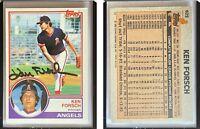 Ken Forsch Signed 1983 Topps #625 Card California Angels Auto Autograph