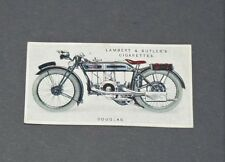 CIGARETTES LAMBERT BUTLER CARD MOTOR CYCLES 1923 N°16 DOUGLAS MOTO