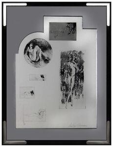 LEROY NEIMAN Etching Rare Original HAND SIGNED Female Nude Playboy Artwork oil