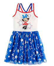 Disney Minnie Mouse Strappy Dress Stars Red White Blue NWT L (12) or XL (14) $36