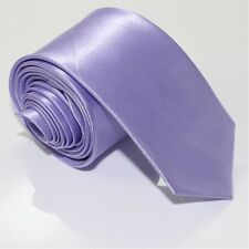 Solid Plain Color Modern Skinny Neck Tie - Men's Polyester Silk Wedding-Party