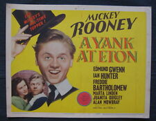 A YANK AT ETON 1942 lobby card set Mickey Rooney British comedy college top hat
