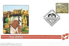 1998 - FDC 1°JOUR - VATICAN - JEAN-PAUL II - AUTRICHE - TIMBRE REP.OSTERREICH