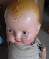 "Vintage 1930s Composition Cloth Kiddie Pal Hug Me Boy Character  Doll 20"""