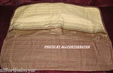 TRIBECA YELLOW BROWN STRIPE THICK STANDARD QUILTED PILLOW SHAM NIP