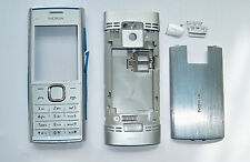 Full silver Cover Housing Fascia facia faceplate Case for Nokia X2 X2-00 silver