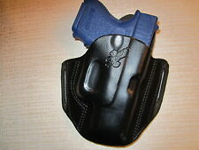 FITS GLOCK 27  formed leather pancake owb belt holster
