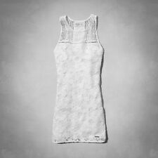 NWT New Abercrombie & Fitch Gwyneth Lace Shift Dress Size 8 White