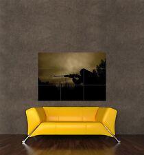 Poster Print Photo Sport Liesure Shooting Rifle Gun Silhouette Marksman Seb999