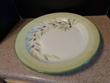 BIZZIRRI Made in Italy Handpainted 16 inch wide Round Plate Serving Tray